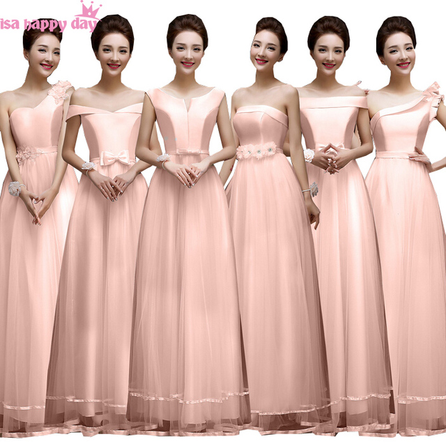 2017 new arrival ladies special occasions peach colored pink tulle ...