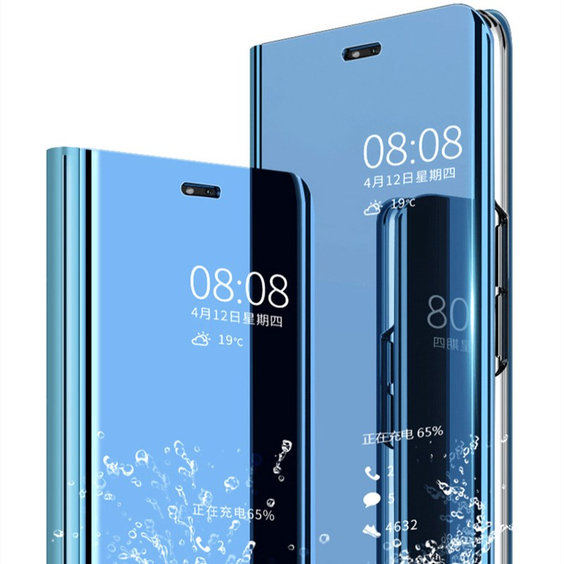 Clear-View-Mirror-Flip-PC-Phone-Case-for-Huawei-P20-P10-mate-20-lite-P-Smart