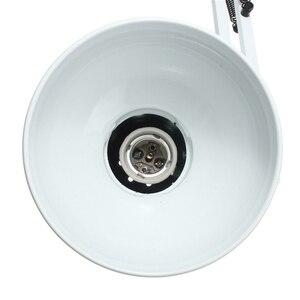 Image 4 - EU/US Plug Flexible Swing Arm Clamp Mount Lamp Office Studio Home E27/E26 White Table Desk reading Light AC85 265V Mental+ABS