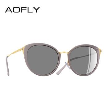 AOFLY BRAND DESIGN Polarized Sunglasses Women 2018 Fashion Ladies Cat Eye Sun Glasses Eyewear Gafas De Sol A131