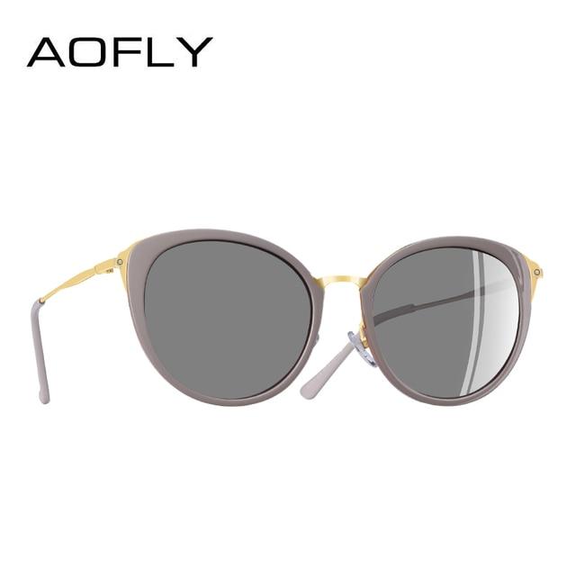 f24fe2b3c70b6 AOFLY DESIGN DA MARCA Senhoras Da Moda Olho de Gato óculos de Sol Óculos  Polarizados Óculos