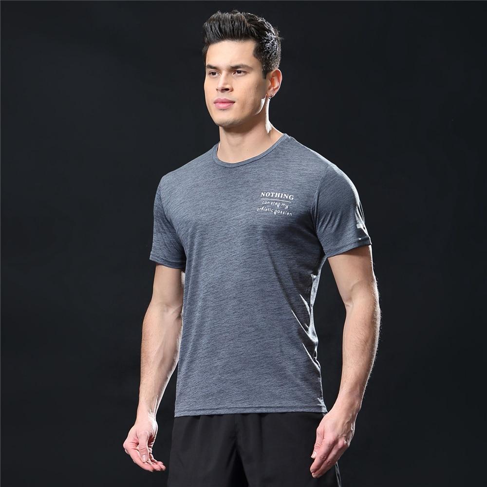 GANYANR Running T Shirt Men Basketball Tennis Sportswear Tee Sport Fitness Gym Jogging Tops Slim Fit quick dry Exercise Training 30