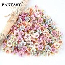 FANTASY Mix Color Silk Flower Heads Daisy Fake Flowers Artificial Head for DIY Wreath Scrapbook Wedding Home Decoration