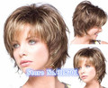 New Straight Hair Wigs Blonde Brown mix Fashion Short Women's Wig free shipping