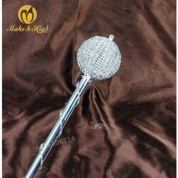 Miss beauty Pageant Scepter палочка Кристалл ручной работы скипетр персонал Свадебный выпуск вечерние костюмы аксессуары портативный инструмент