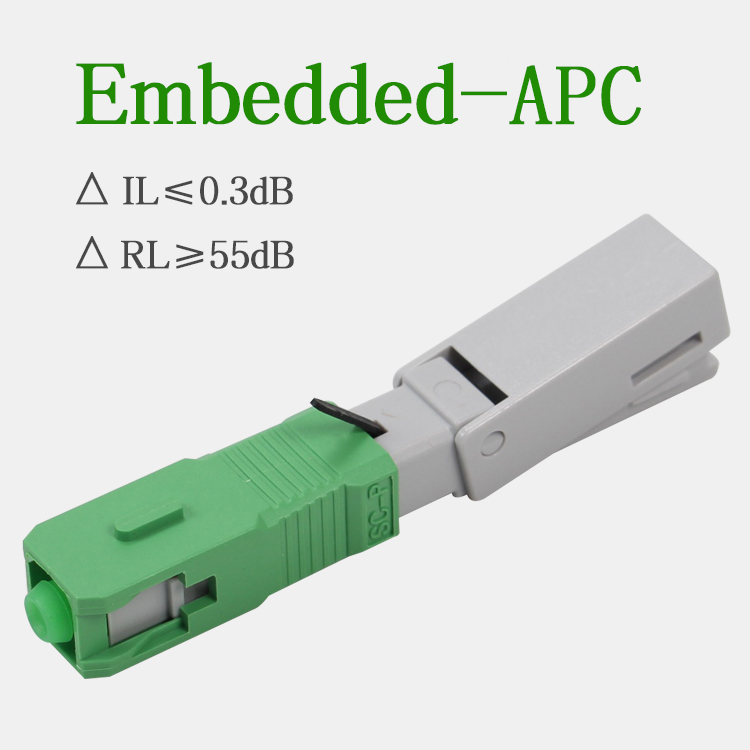 Image 4 - 100PCS/lot Embedded cold connector SC APC optical fiber Fast connector  FTTH quick assembly connector-in Fiber Optic Equipments from Cellphones & Telecommunications