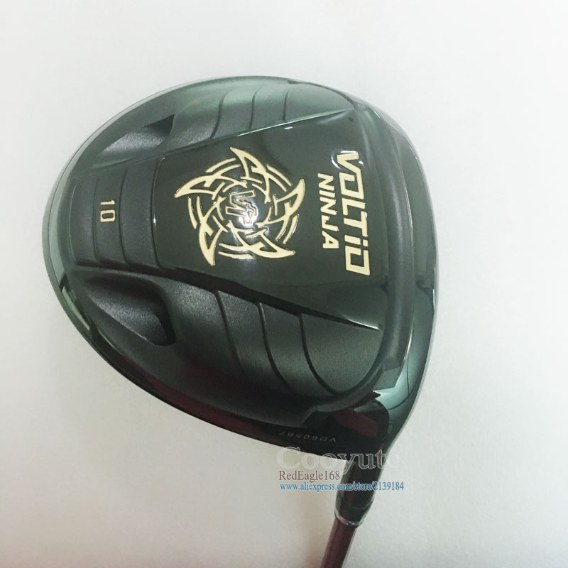 цены Cooyute New Golf Clubs driver KATANA VOLTIO NINJA Golf driver 10or9 loft Golf Graphite shaft and Golf headcove Free shipping