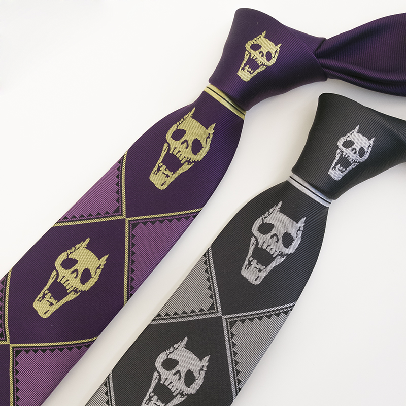 JoJo/'s Bizarre Adventure KILLER QUEEN Kira Yoshikage Cosplay Silk Tie Cool Gift