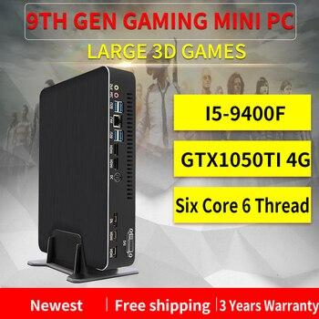 MSECORE i5 9400F GTX1050TI tarjeta dedicada DDR4 juego Mini ordenador Windows 10 ordenador de sobremesa juego linux intel HTPC DP HDMI2.0 4K