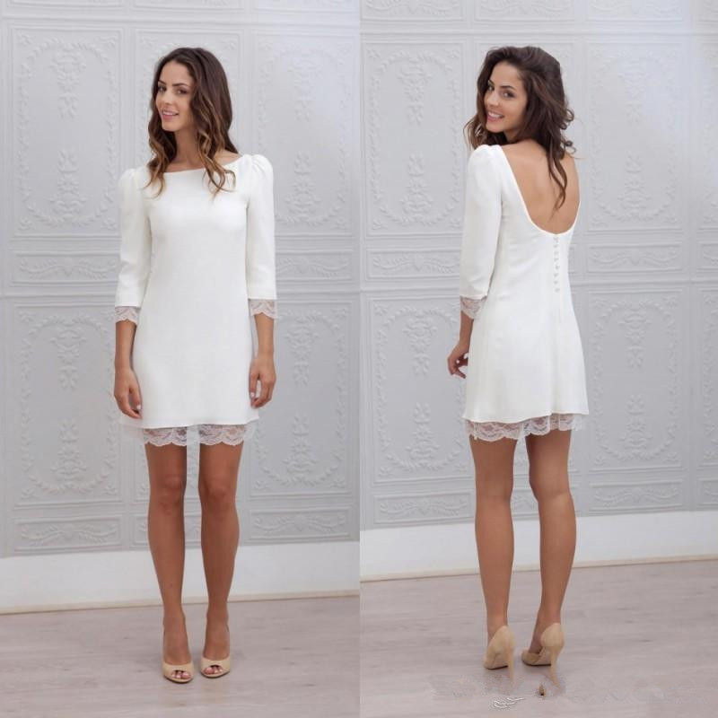 informal casual short white dress