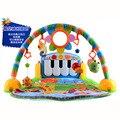 Tapetes de jogo do bebê brinquedos de fitness quadro é recém-nascido pé tapetes de jogo cobertor jogo de música de Piano Musical brinquedo de ano recém-nascido 1