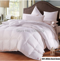 200 230cm Double Duvet White Duck Down Edredon Pink Winter Comforter Sateen Jacquard Feather Quilt Blankets