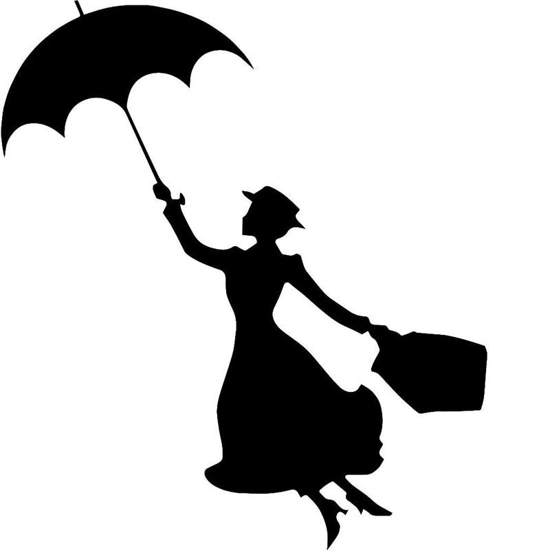 The Wind Beautiful Girl Hand Holding Umbrella Happy Beautiful Dancing Art Car Sticker for Kayak Car Decor Vinyl Decal 10 Colors