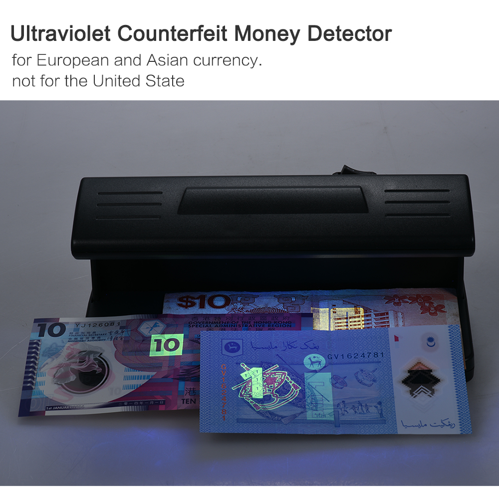 US $8 67 26% OFF|Counterfeit Money Detector Ultraviolet UV Counterfeit Bill  Detector Machine Forged Money Tester Fake Polymer Bank Note Checker -in