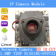 1/4 ' 720P Onvif 1.0 IP Camera 1280 * 720P HD upgrade IP Cam HI3518E + OV9732 + HD IR-CUT  CCTV Security System