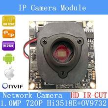 1/4 '720 P Onvif 1.0 Câmera IP 1280*720 P HD atualizar HI3518E + OV9732 + HD IR-CUT CCTV Segurança IP Cam sistema