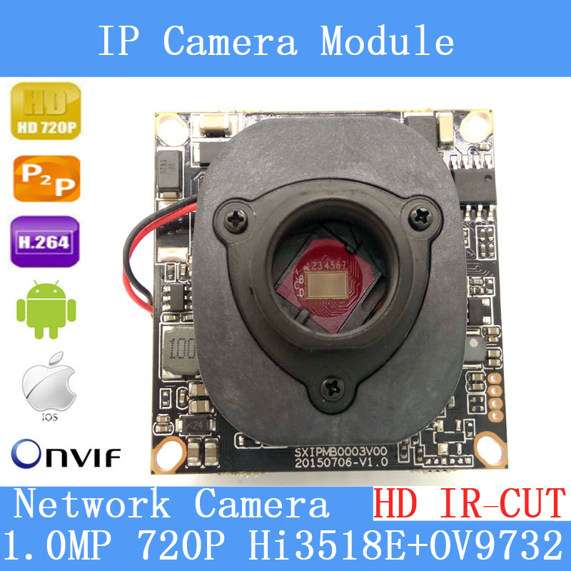 PU`Aimetis 1/4 ' 720P Onvif 1.0 IP Camera 1280 * 720P HD upgrade IP Cam HI3518E + OV9732 + HD IR-CUT CCTV Security System j47b as cameras do ip de hd apoiam hd 720p 1280 720 deteccao de movimento mascara da privacidade camera bala