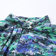 New Fashion Silk Print Blouse Casual Plus Size 5XL Women Shirt
