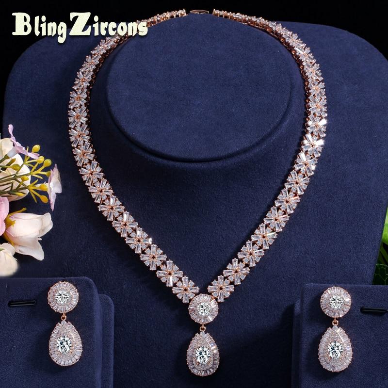 BeaQueen superbe Dubai couleur or zircon cubique bijoux lourds ensemble pour perles africaines nigérian mariage ensembles de bijoux JS049