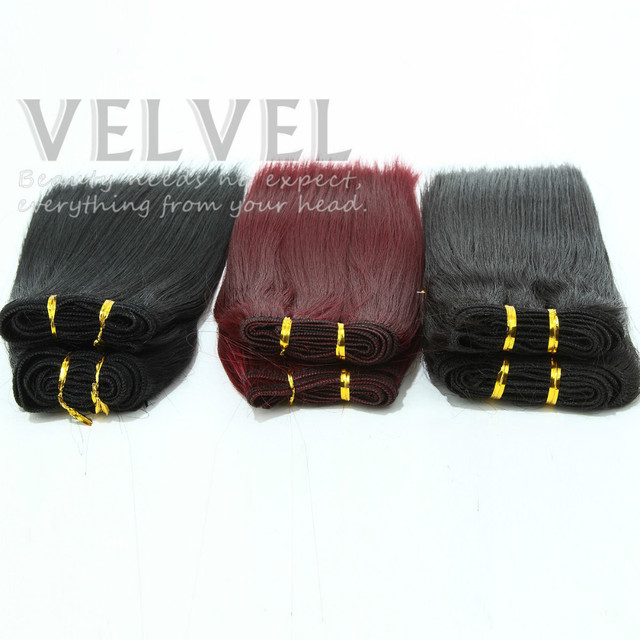 """1PC+Free Shipping Africa Girl 2pcs Each Set Extension Hair Synthetic 8"""" Color2 4 118  Synthetic Hair Weaves Straight VELVEL"""