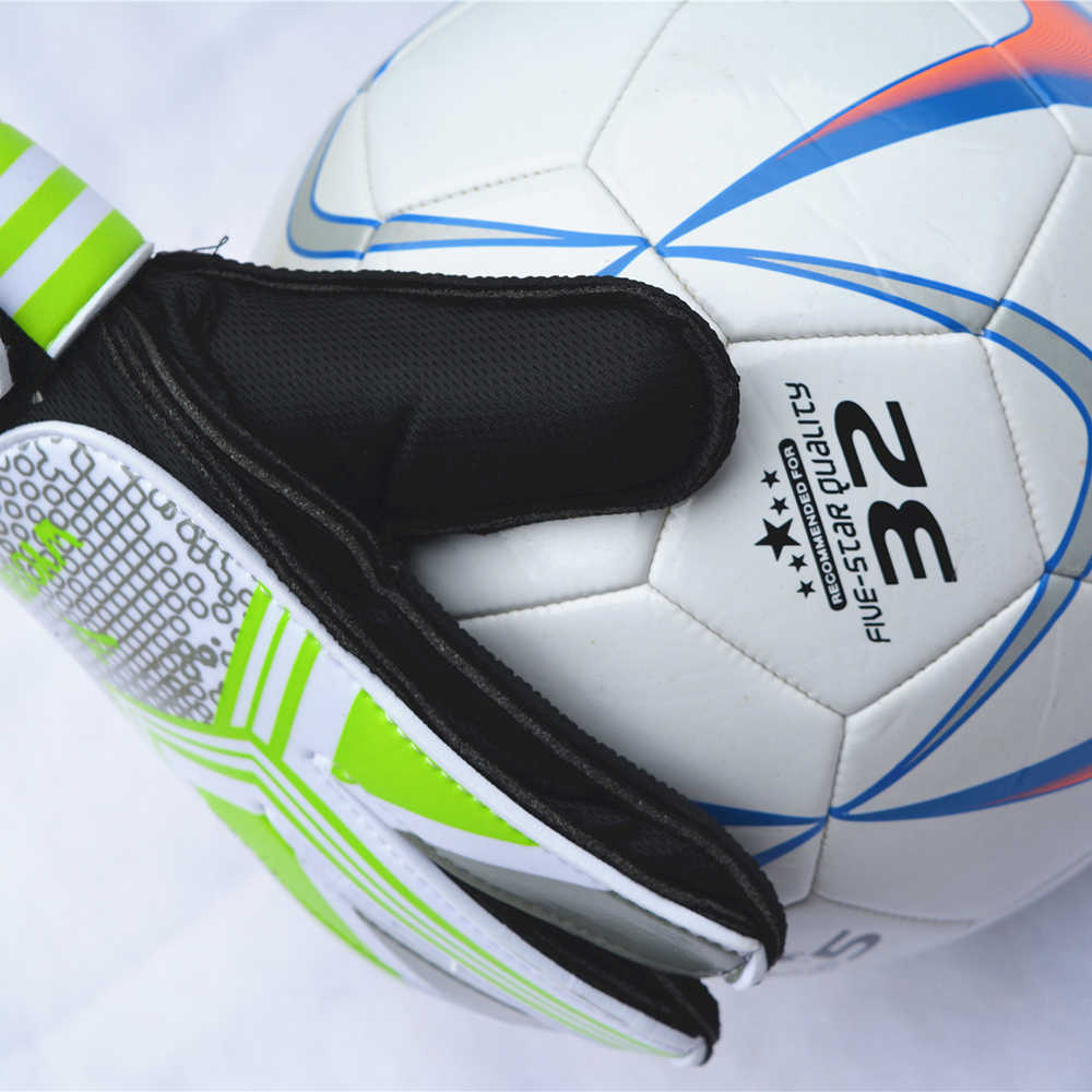 Profesional Anak Kiper Sarung Tangan Anak-anak Sepak Bola Kiper Sarung Tangan Guantes Sepak Bola dengan Jari Perlindungan Portero Futbol