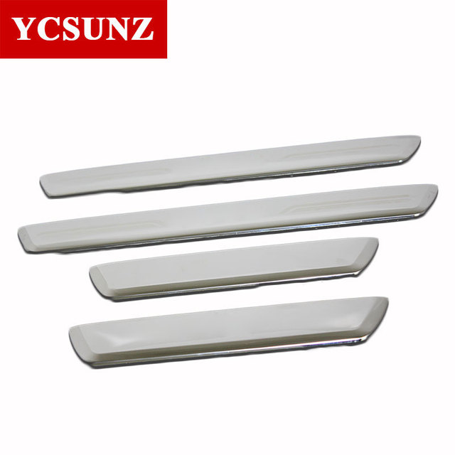 Threshold Steel Door Sill Decorative Thresholds For Toyota Hilux Revo 2016 2017 2018 2019 Car Styling
