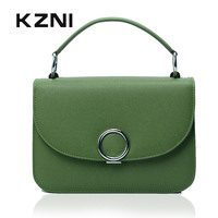 KZNI Genuine Leather Handbag Women Top Handle Bags For Girls Women Handbags 2017mini Briefcases Party Bags