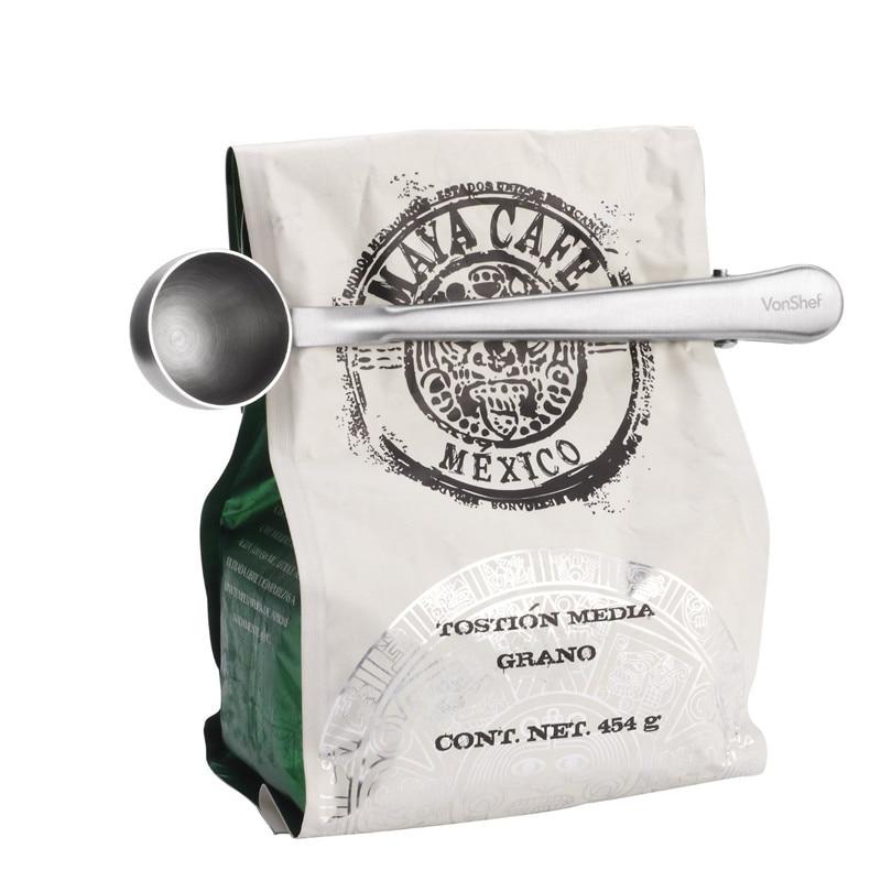 Čajna vrečka za kavo izrezuje merilno žlico s prenosno zaponko za - Organizacija doma