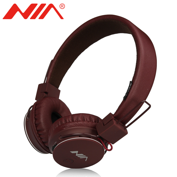 Stereo Headphones Original NIA 1682 Foldable Sport EQ Earphone Free Shipping with Mic Support TF Card FM Radio Headset nia 1682s original stereo headphones 10 colors collapsible music player portable headset support tf card fm radio free shipping
