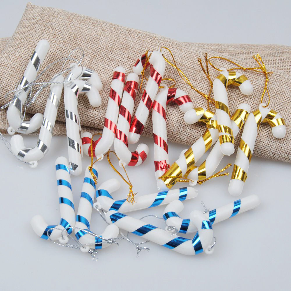 24 Pcs Christmas TREE Hanging Candy Cane Ornaments Festival Party Xmas Tree Decoration Christmas Decoration Supplies