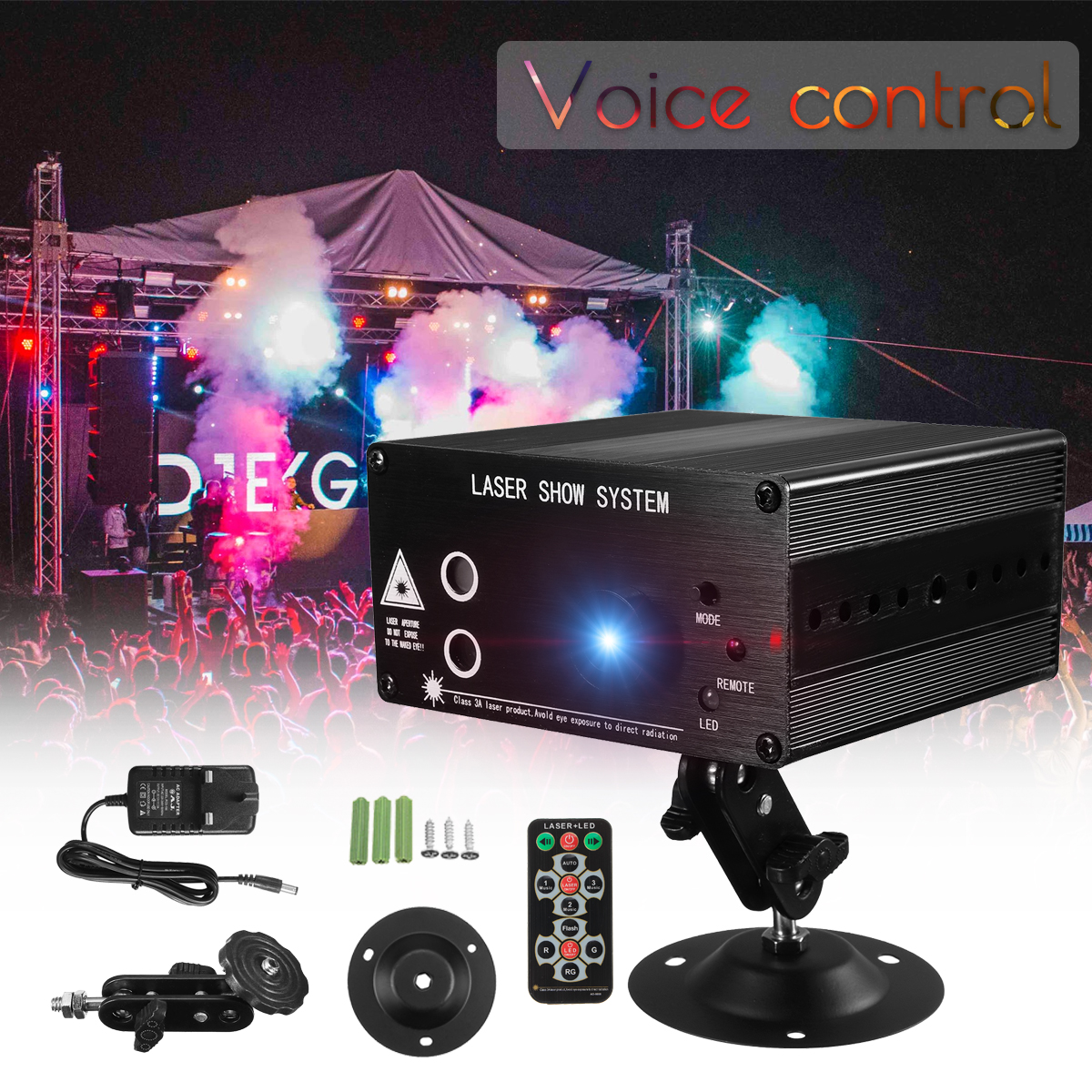 Laser Projector 48 Pattern Disco Light Remote/Sound Controll Christmas Stage Light RGB DJ Party Lamp Christmas Decoration