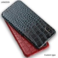 Genuine Leather Case For ZTE Nubia Z9 Nx508j Crocodile Grain Exotic Premium Leather Custom Design Cell