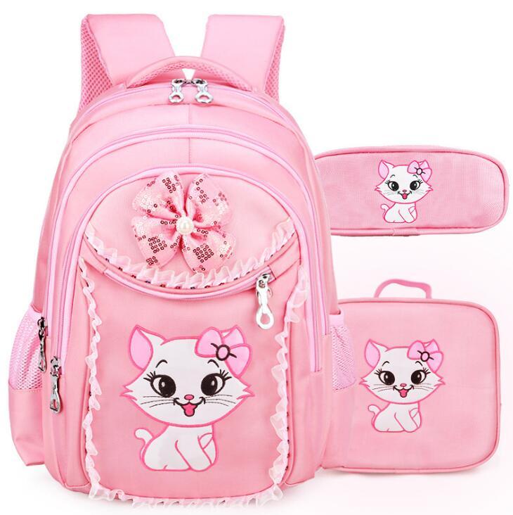 Portfolio School Bags For Girls 2019 Sweet Cute Cartoon Kids Backpack Princess Bookbag Children Backpack Primary School Backpack