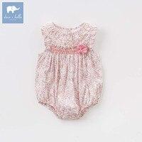 Dave bella newborn baby girls cotton clothing infant toddler clothes children summer romper 1 piece DBZ7650