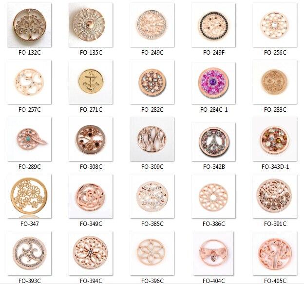 Biżuteria vinnie design 33mm Rose złota moneta tarcza fit 35mm rama wisiorek mieszane style hurtownie