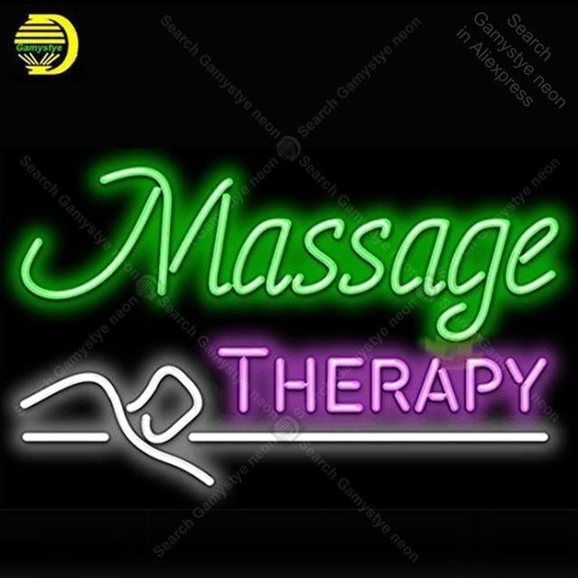 Massage Therapy Neon Bulbs Sign Handcraft light Sign Display Recreation Iconic Neon Light anuncio luminoso Supper Bright Lamps