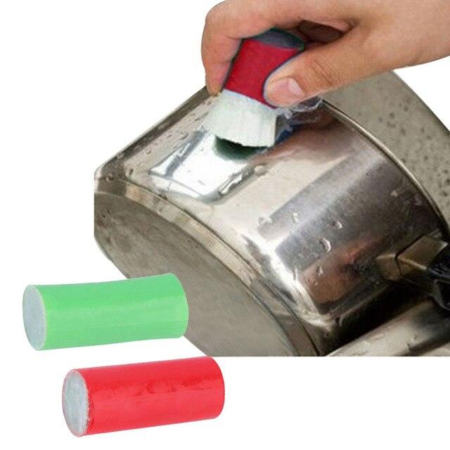 2 pçs/set Handy Escova Durável Magia Limpeza Removedor de Ferrugem De Cozinha Em Aço Inoxidável Utensílios de Cozinha cozinha