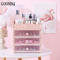 GOONBQ 1 pc 4 Layers Plastic Cosmetic Drawer Makeup Organizer Container Desktop Sundry Makeup Storage Box Dropshipping
