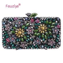 Fawziya Frauen Kleine Tasche Blume Geldbörse frauen Luxus Strass Clutch Abendtasche