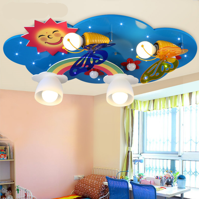 lighting kids room. aliexpresscom buy kids room lamp childrenu0027s bedroom ceiling light creative butterfly cartoon led eye protection lighting from reliable