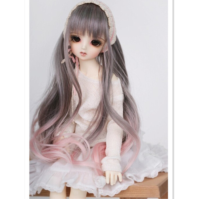 1/4 1/6 SD Bjd Doll Wig Synthetic Doll Hair Long Wavy BJD Super Dollfile Hair Wig Accessories for Dolls