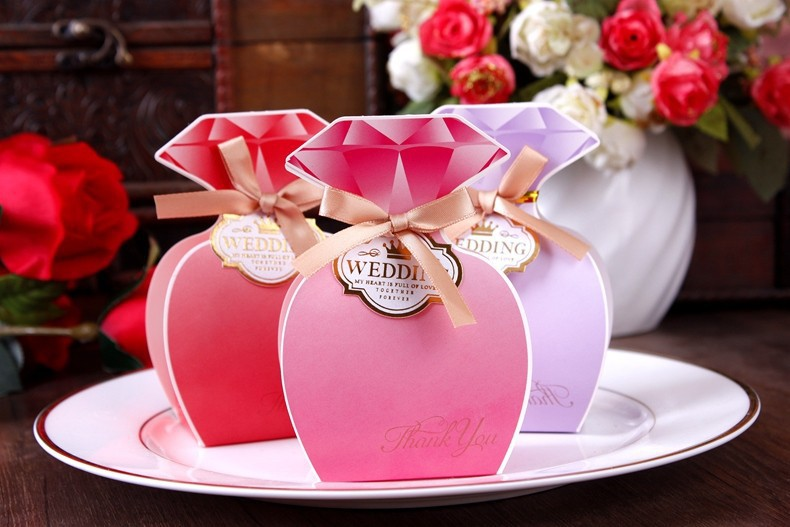Wedding Favor Candy Box Unique Design Diamond Ring Sweet Boxes Chocolate Gift Boxes Party Favor Box 100pcs Lot Box Party Box Chocolatebox Box Aliexpress