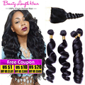 8A Ms Lula Hair with Closure and Bundles Brazilian Loose Wave with Lace Closure Aliexpress UK Brazilian Virgin Hair with Closure