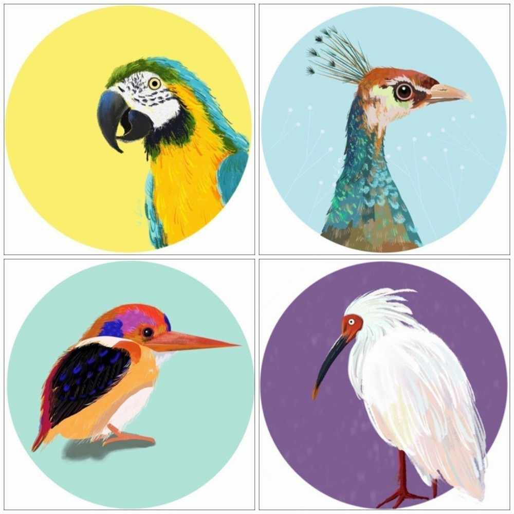 Huacan 5D plein carré diamant peinture Animal oiseau diamant broderie vente photo strass diamant mosaïque