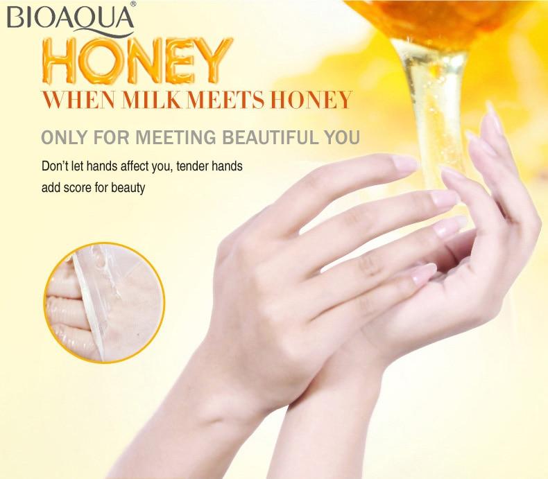 BIOAQUA Mliječni med Hidratantni ručni vosak Parafinska krema za - Briga o koži - Foto 4