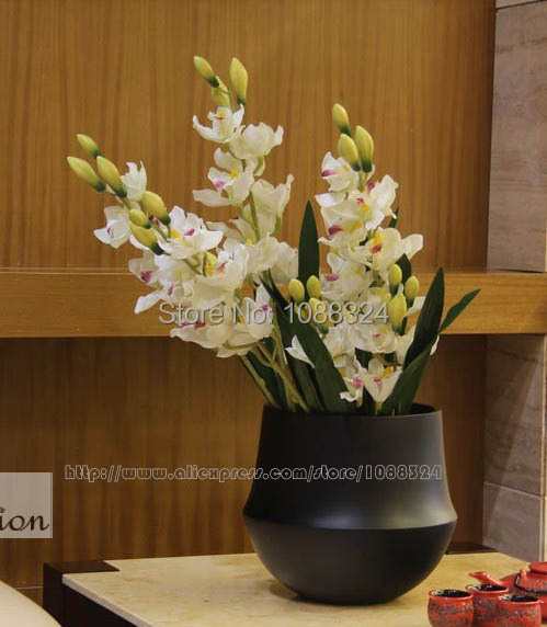 silk orchids for decor fabric mothorchid wedding party event display artificial orchid - Silk Orchids