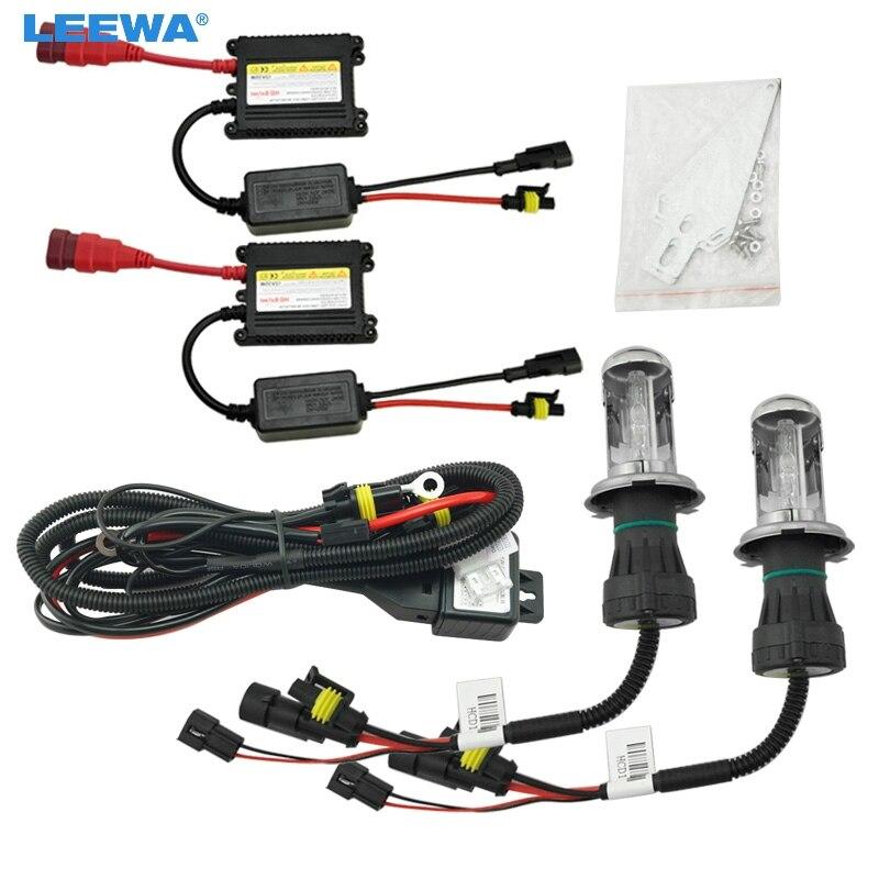 LEEWA 1 set 35 W DC12V voiture phare H4 xénon ampoule Hi/Lo faisceau bi-xénon ampoule lumière mince Ballast HID Kit # CA4481