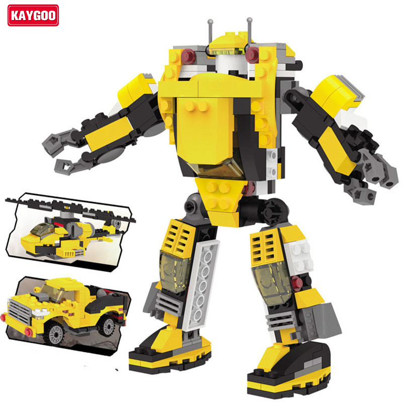 Kaygoo 109 Challenger 3 in 1 robots building block 229pcs ABS small particles toy challenger assemble toy boy gift big size kaygoo 109 challenger 3 in 1 robots building block 229pcs abs small particles toy challenger assemble toy boy gift big size