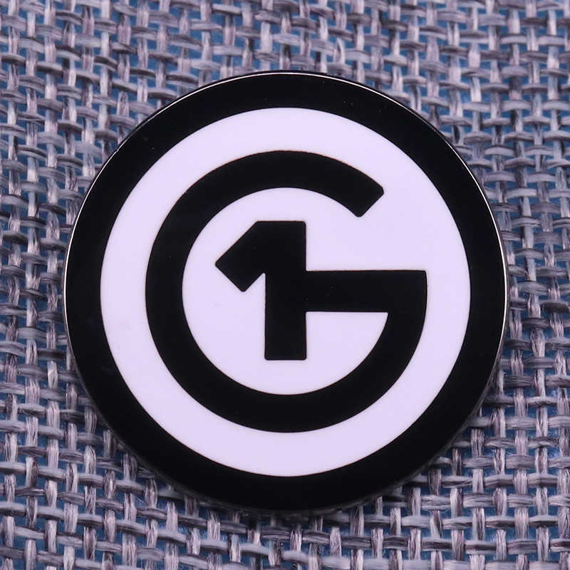 1G-target Bullseye Pin Panahan Tombol Bros Hitam dan Putih Bulat Seni Lencana Olahraga Perhiasan Hadiah untuk Dia