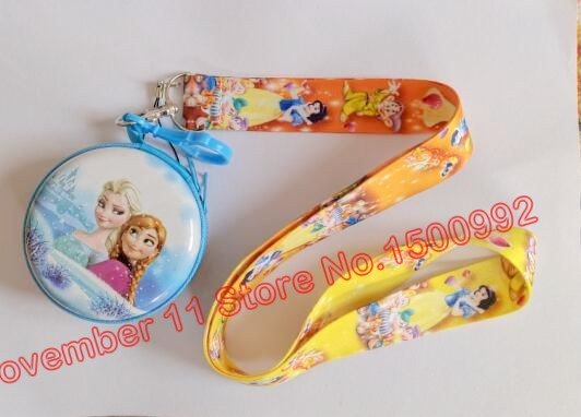 Jewelry Sets & More Key Chains New 1pcs Princess Cartoon Neck Straps Lanyards Key Id Card Coin Purse Set Qw-519